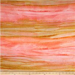Bali Rainbow Flannel Striations Apricot/Gold