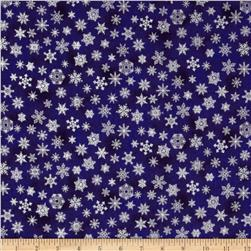 Holiday Accents Classics 2013 Metallic Small Snowflake Blue
