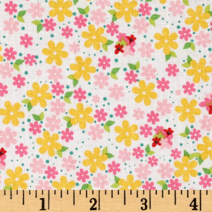 Hoo's In The Forest Floral Pink/Yellow