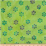 0269817 Indian Batik Mini Floral Turquoise/Purple/Green