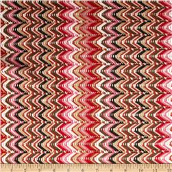 Designer Chevron Sweater Knit Pink/Red