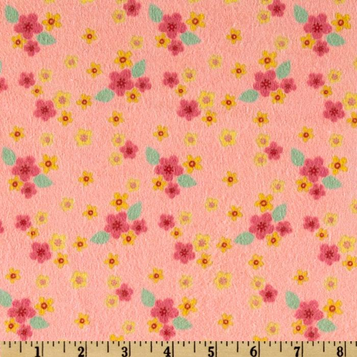 Hip Hoppity Flannel Ditsy Pink