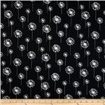 Premier Prints Small Dandelion Black/White