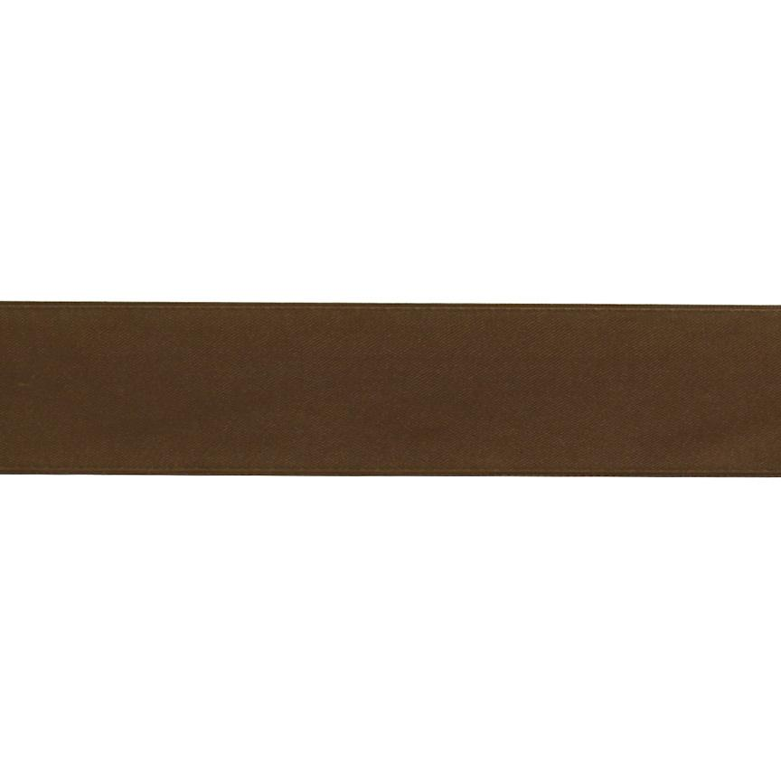 1 1/2'' Double-sided Satin Ribbon Brown