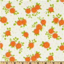 Moda Happy-Go-Lucky Mum White/Orange