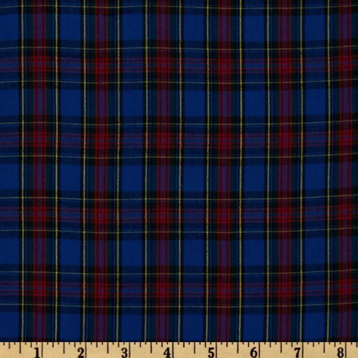 Kaufman House of Wales Plaid Shirting Royal