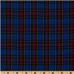 FO-657 Kaufman House of Wales Plaid Shirting Royal