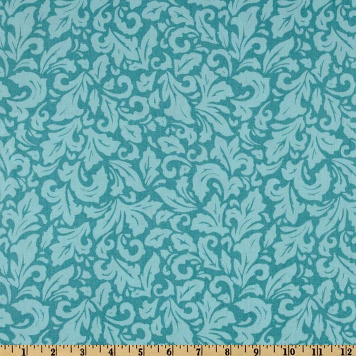 Capri Basics Damask Teal