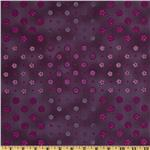 Folkloric Blooms Floral Dots Plum
