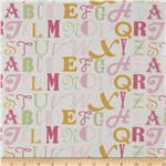 0281900 Annette Tatum Little House Laminated Cotton Letters Pink