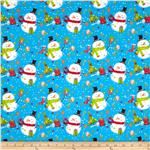 0277507 Tossed Snowman Blue