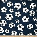 Printed Fleece Soccer Navy