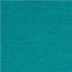 Rayon Blend Jersey Knit Heather Teal