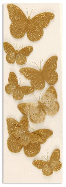 Martha Stewart Crafts Golden Butterfly Stickers