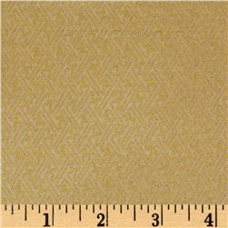 Asuka Metallic Geo Tile Cream/Gold