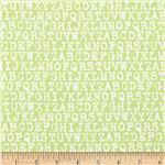 0291504 Cozy Cotton Flannel Alphabet Pistachio