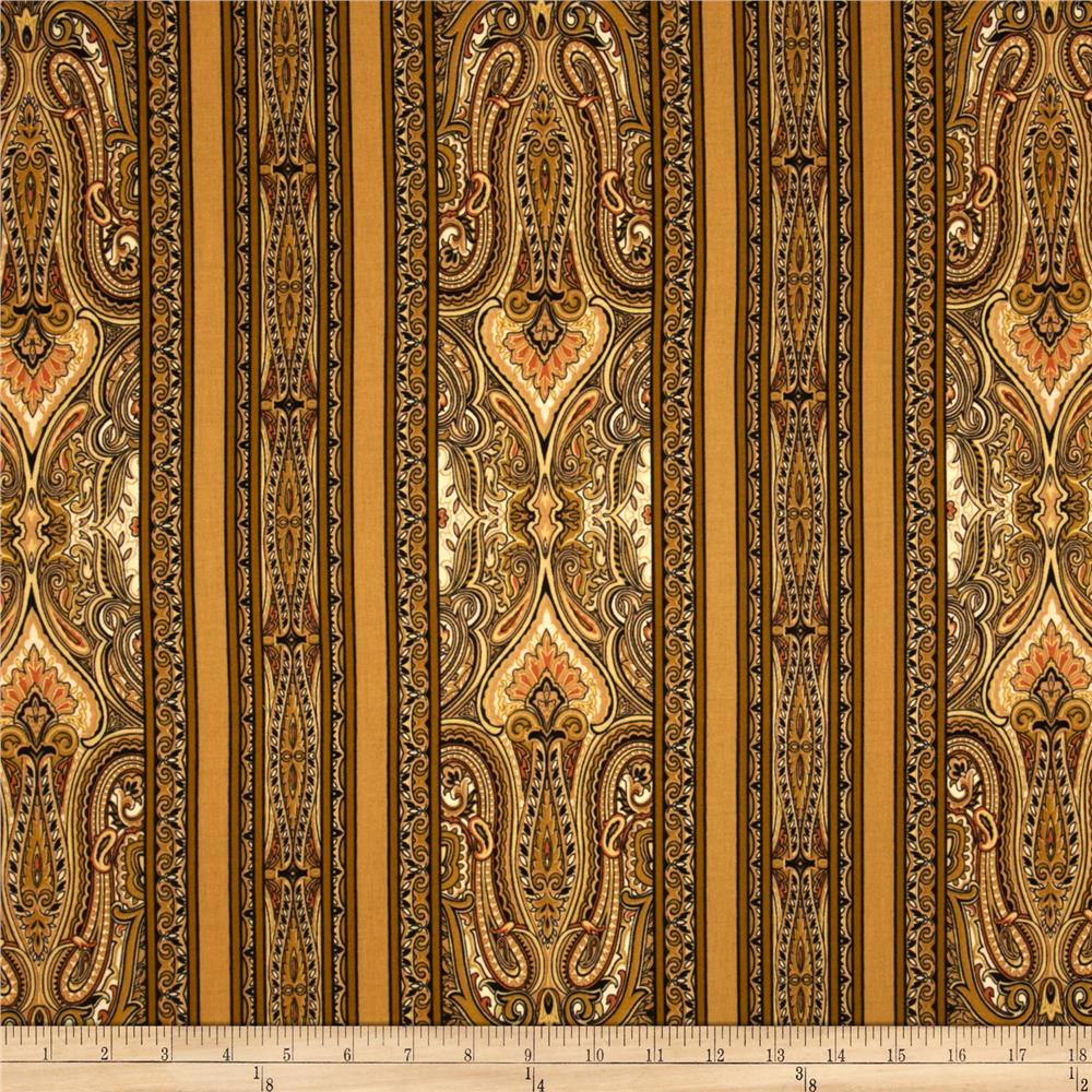 Renaissance Garden Paisley Stripe Tan