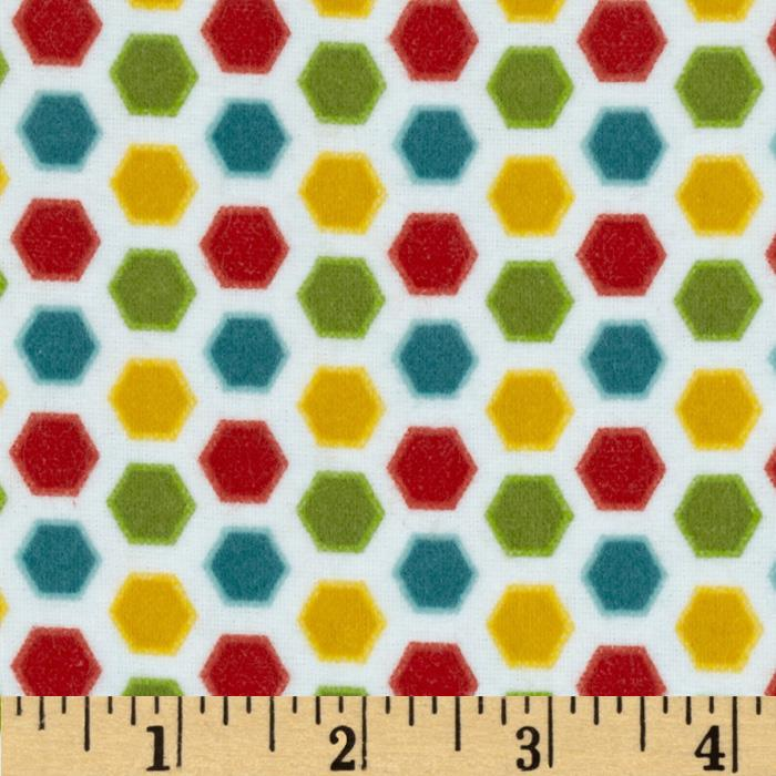 Riley Blake Cruiser Blvd Flannel Hexi Green