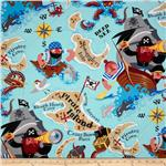 224568 Monkey&#39;s Bizness Pirate Island Blue