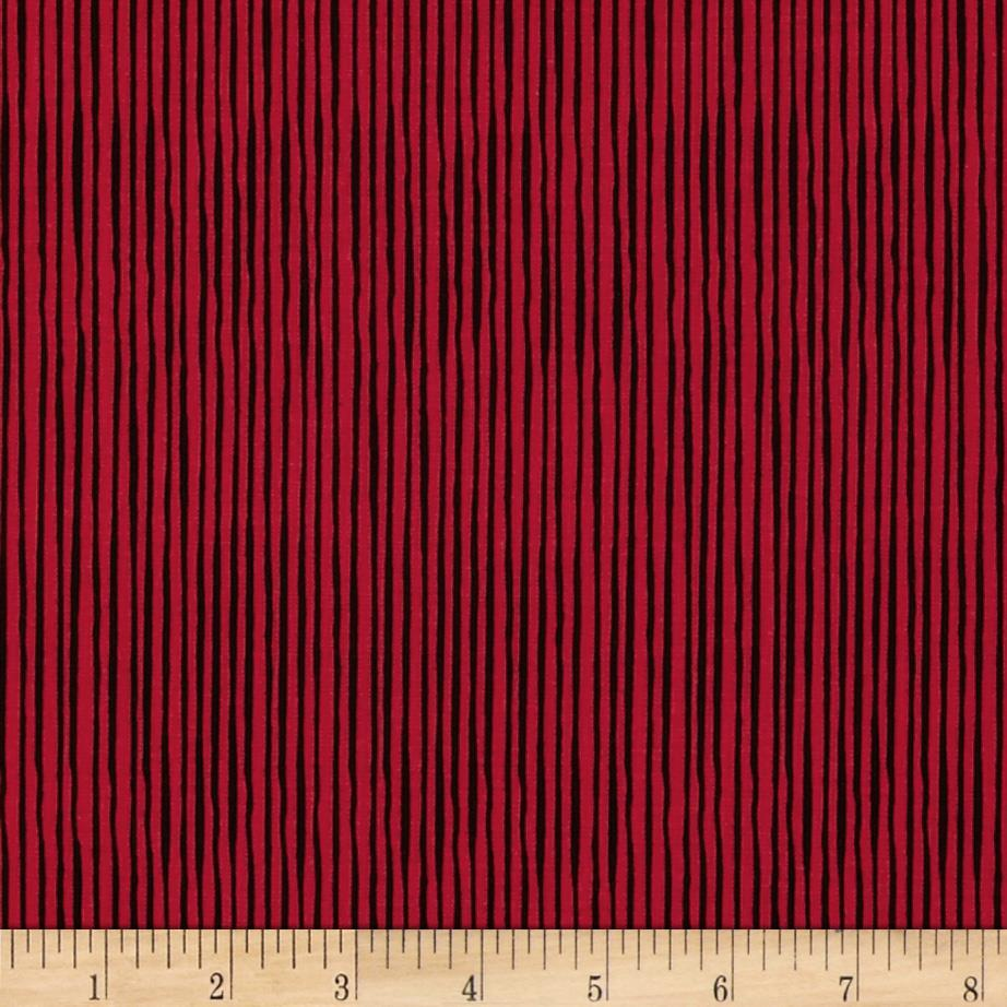 Loralie Sew Creative Quirky Pinstripe Red/Black