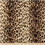 0265188 Safari Shimmer Stretch ITY Knit Cheetah Flourish Red/Gold