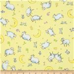 Moda Beddy Bye Flannel Counting Sheep Yellow