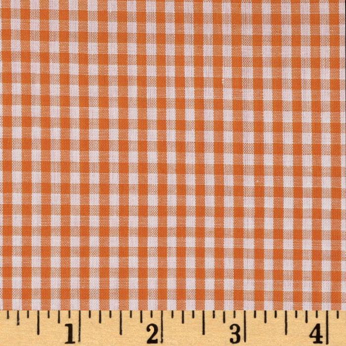 Woven 1/8'' Gingham Orange