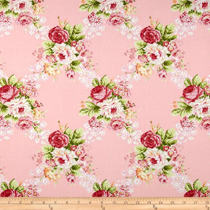 Hill Farm Large Floral Pink
