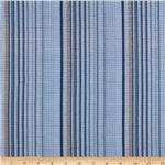 234257 Pucker Yarn Dyed Shirting Stripes Blue