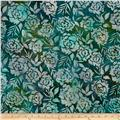 Artisan Batiks Gazebo Abstract Leaves & Flowers Meadow