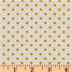 Crazy for Dots & Stripes Dottie White/Marigold