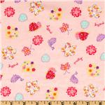 EH-897 Camelot Flannel Pretty Birdies Pink