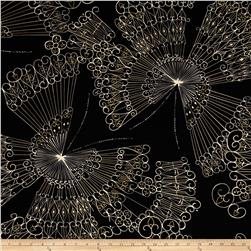 Kanvas Sakura Metallic Butterfly Lace Black