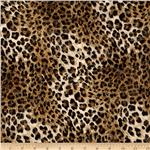 Safari Shimmer Stretch ITY Knit Cheetah Gold/Black