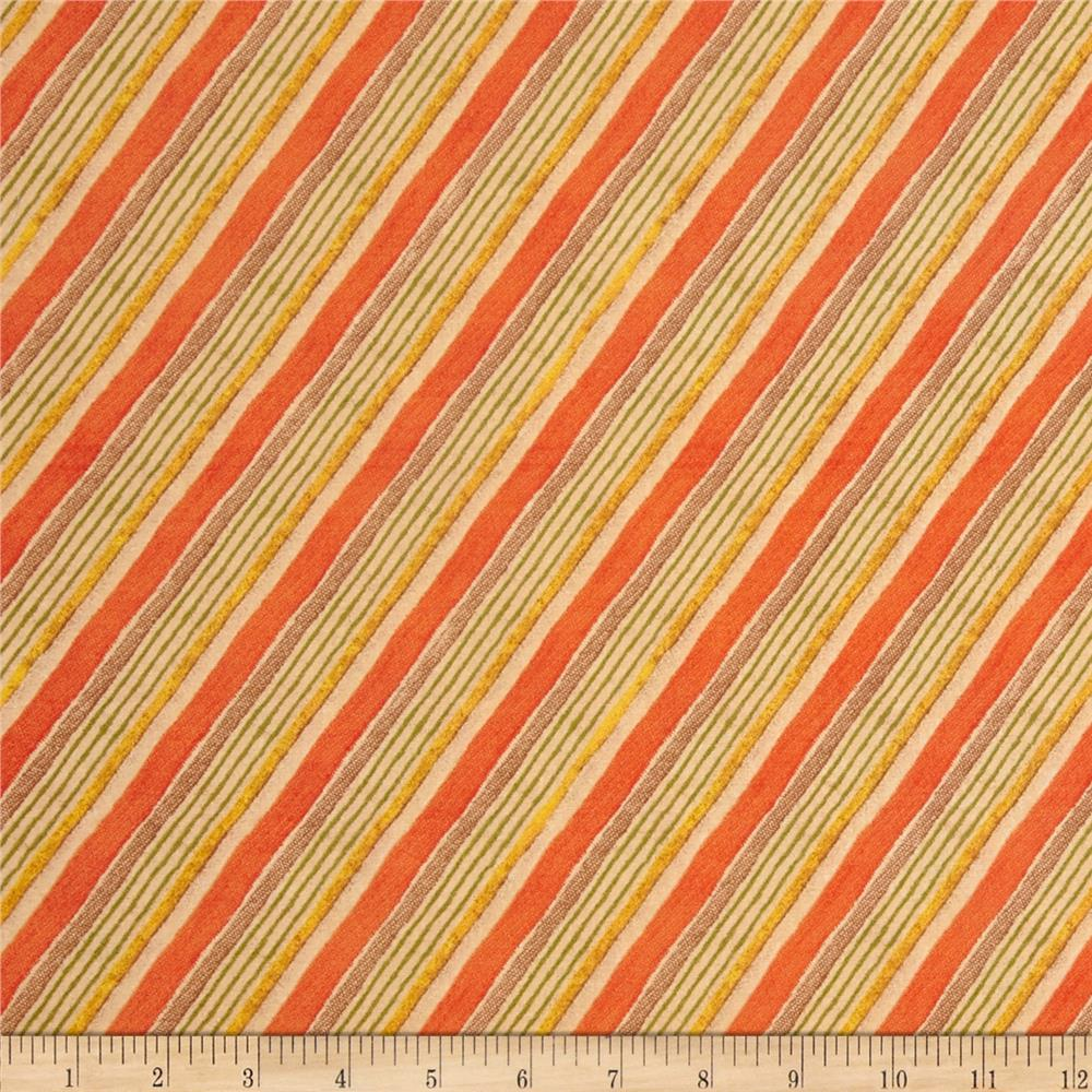 Let Us Give Thanks Diagonal Stripe Orange