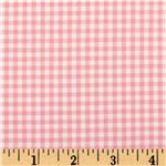 Woven 1/8&#39;&#39; Carolina Gingham Pink