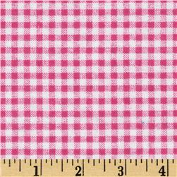 Camelot Flannel Gingham Medium Pink