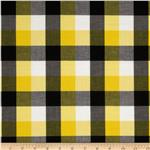Prepster Stretch Yarn Dyed Shirting Plaid Black/Yellow