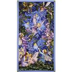 ER-106 Michael Miller Night Flower Fairies Panel Nite Blue