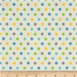 Flannel Multi Dots Blue