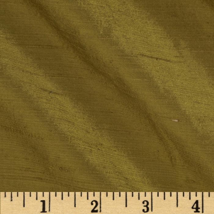 Dupioni Silk Fabric Olive