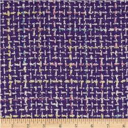Wool Blend Coating Purple/Multi