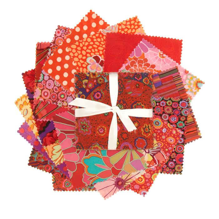 Kaffe Fassett Classics 6&#39;&#39; Charm Pack Red