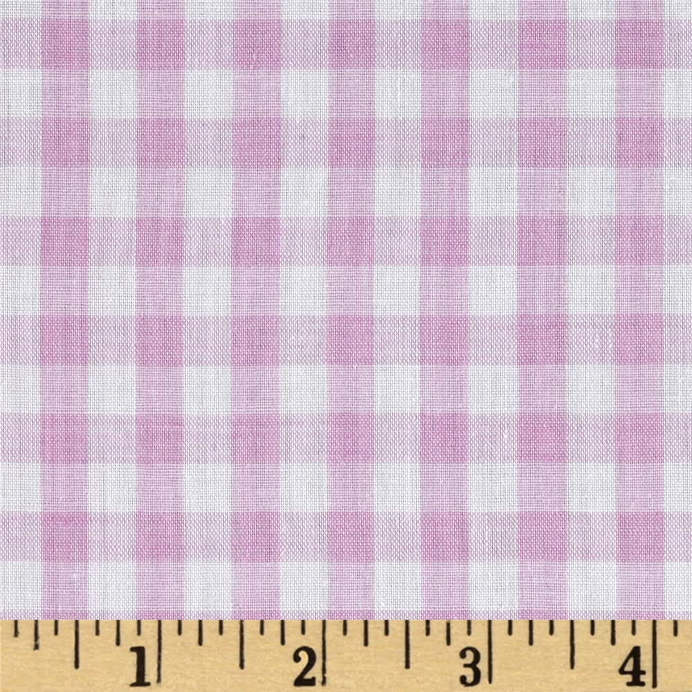 Woven 1/4 Gingham Lilac