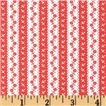 0280314 Moda Avalon Seaside Awning Stripe Candy Apple Red