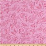 "221562 110"" Wide Quilt Backing Butterfly Light Pink"