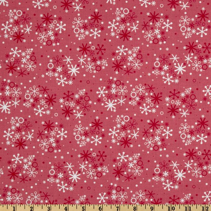 Santa's Workshop Snowflake Red