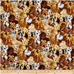 0301784 Timeless Treasures Dogs Brown