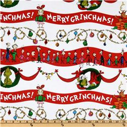Kaufman How The Grinch Stole Christmas Whoville Stripe Red/White