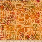 Bali Batiks Vegetables Nasturtium